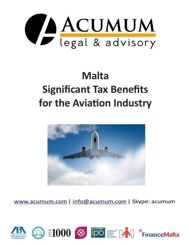 Malta Aviation - Significant Tax & Fiscal Benefits for the Aviation Industry