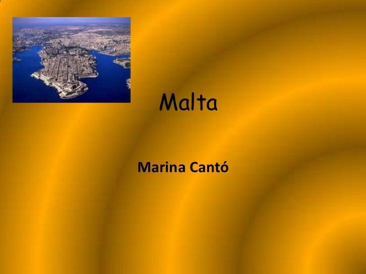 MaltaMarina Cantó