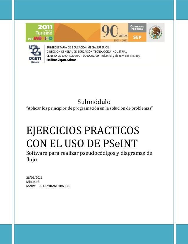 SUBSECRETARÍA DE EDUCACIÓN MEDIA SUPERIOR           DIRECCIÓN GENERAL DE EDUCACIÓN TECNOLÓGICA INDUSTRIAL           CENTRO...