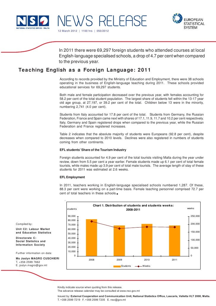 12 March 2012 | 1100 hrs | 050/2012                                In 2011 there were 69,297 foreign students who attended...
