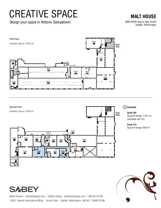 CREATIVE SPACE Design your space in Historic Georgetown MALT HOUSE 5800-5890 Airport Way South Seattle, Washington Availab...