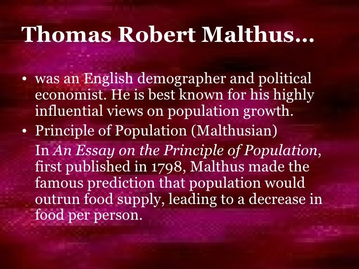 neo malthusian essay Number 1 resource for malthusian theory economics assignment help, economics homework & economics project help & malthusian  thomas robert malthus wrote his essay.
