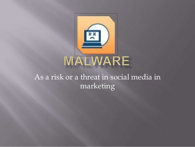 As a risk or a threat in social media in               marketing