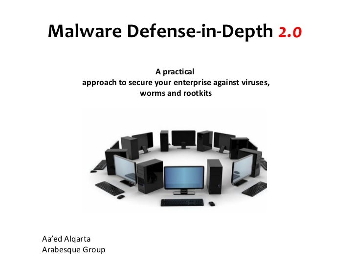 Malware Defense-in-Depth  2.0 A practical  approach to secure your enterprise against viruses,  worms and rootkits  Aa'e...
