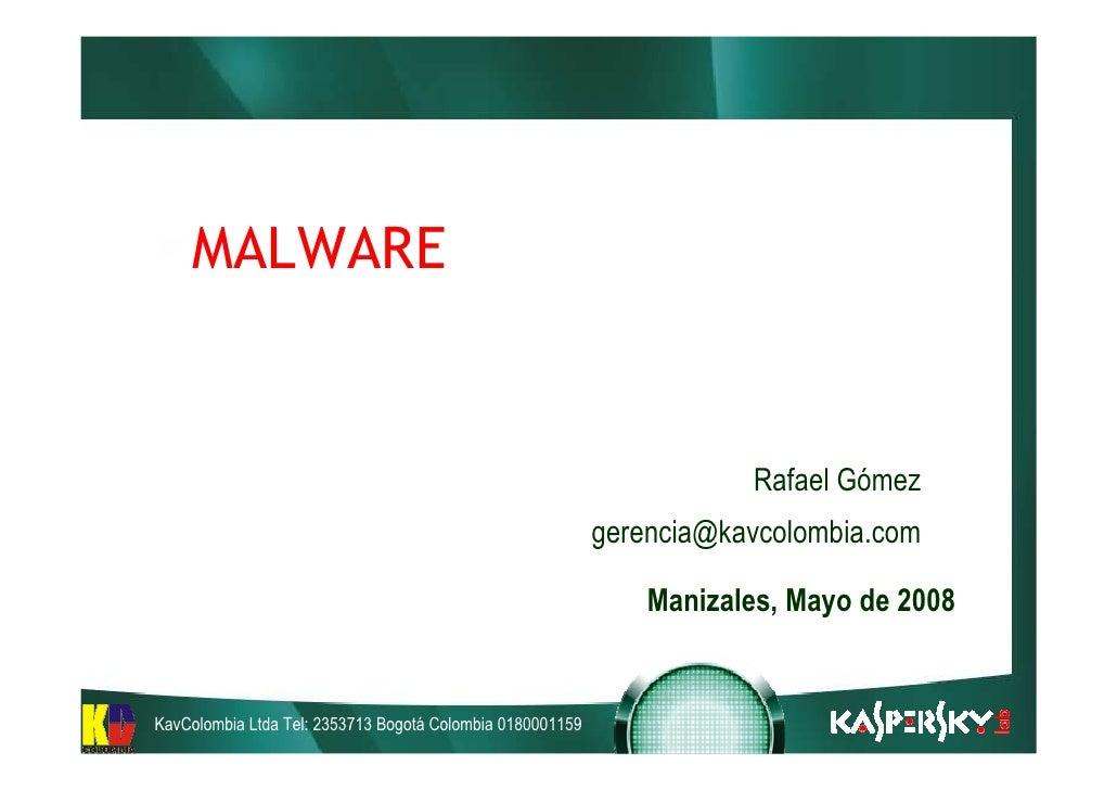 MALWARE                                                                         Rafael Gómez                              ...