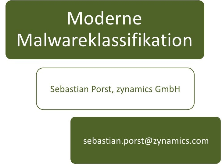 Malware classification