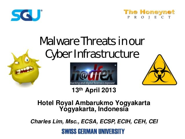 Malware Threats in our    Cyber Infrastructure              13th April 2013  Hotel Royal Ambarukmo Yogyakarta         Yogy...