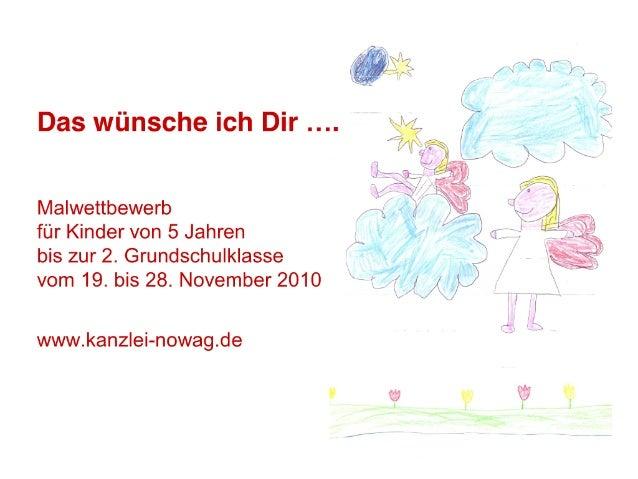 """Malwettbewerb: """"Das wünsche ich Dir..."""" der Steuerkanzlei Christoph Nowag 70619 Stuttgart Sillenbuch"""