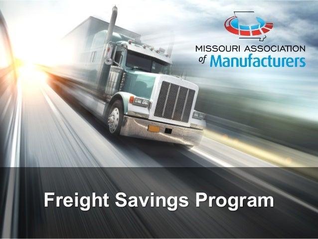 Freight Savings Program