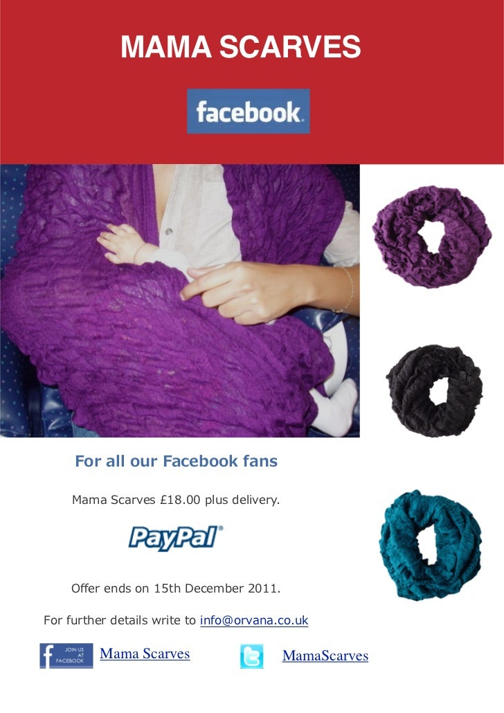 Mama Breastfeeding Nursing Scarves Special Promotion for facebook fans