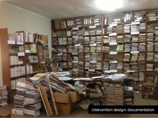 intervention design: documentation