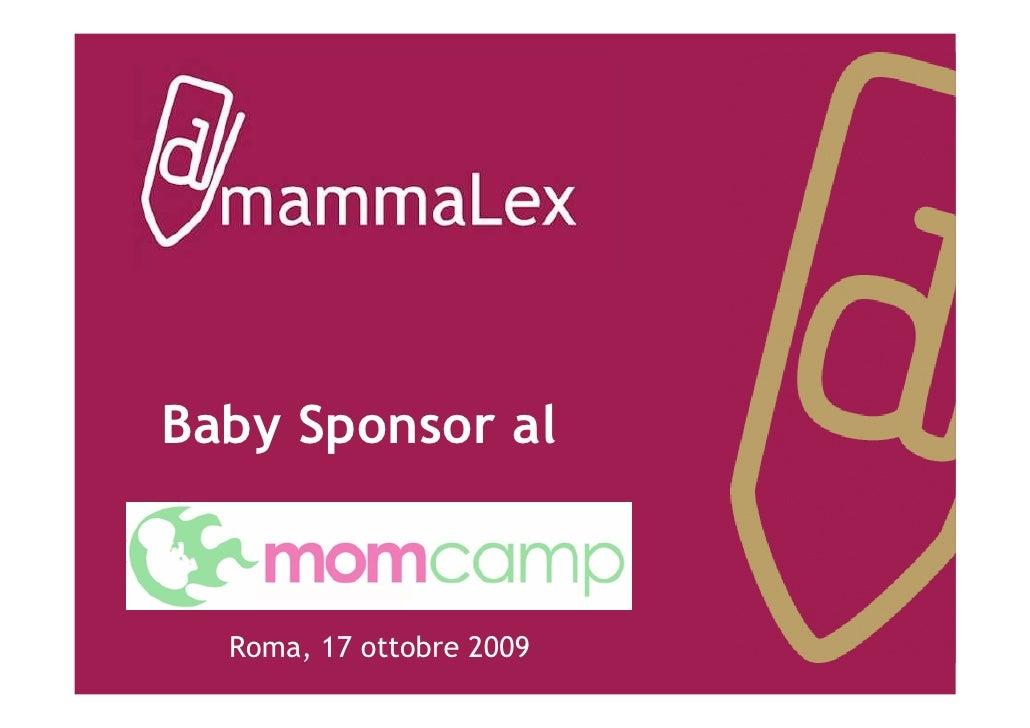 Baby Sponsor al     Roma, 17 ottobre 2009