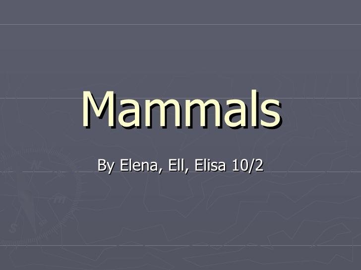 Mammals elisa