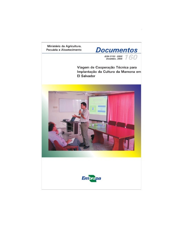 1Viagem de Cooperação Técnica para Implantação da Cultura da Mamona...