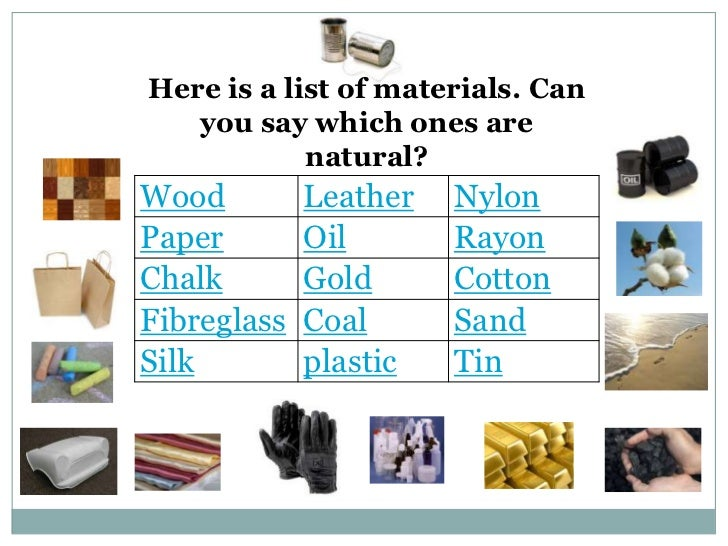 Man – Made Products