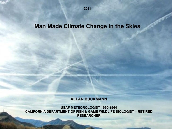 is global climate change man made