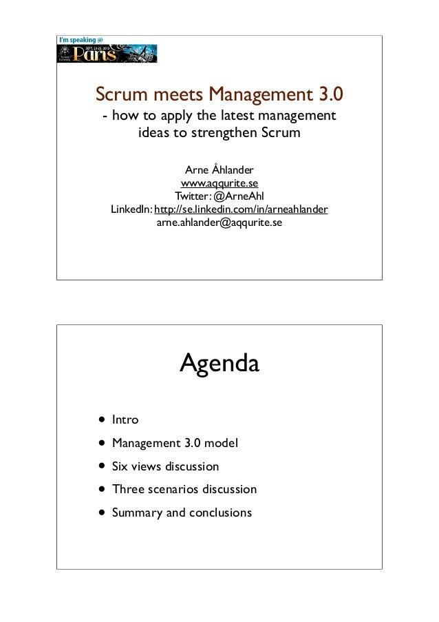 Scrum meets Management 3.0
