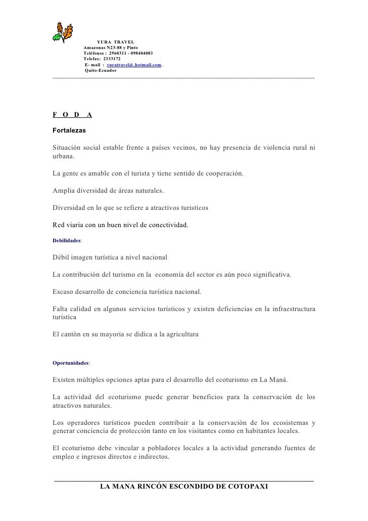 YURA TRAVEL              Amazonas N23-88 y Pinto              Telèfonos : 2960311 - 098404083              Telefax: 233317...