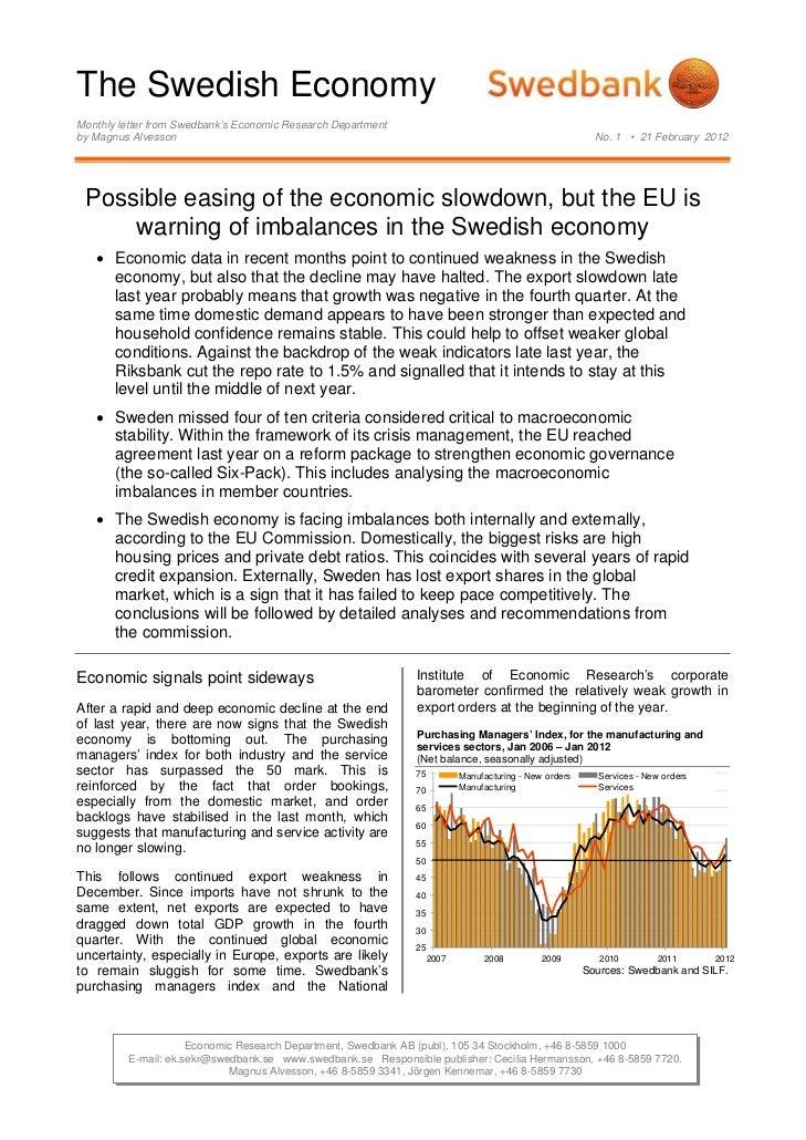 The Swedish Economy No.1 - February 21, 2012
