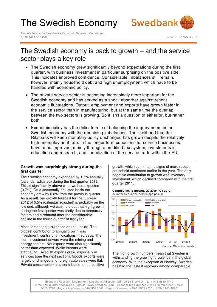 The Swedish Economy No.3 - May 29, 2012