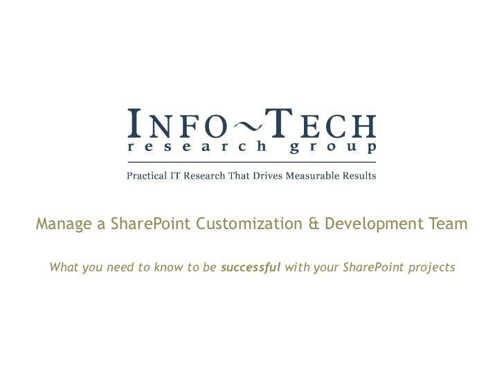 Manage share point development team