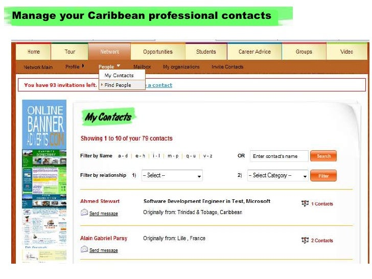 Manage your Caribbean professional contacts<br />