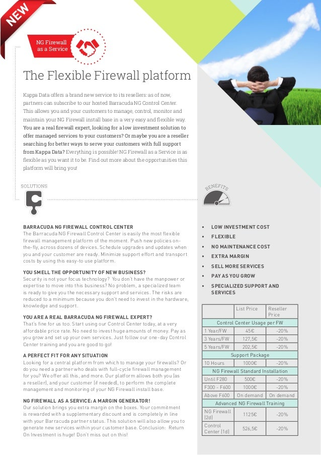 EW N NG Firewall as a Service  The Flexible Firewall platform Kappa Data offers a brand new service to its resellers: as o...