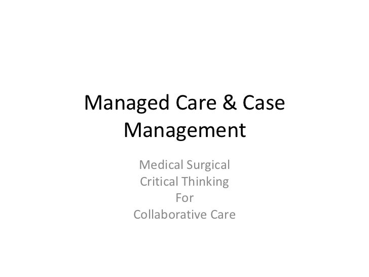 Managed care & case management