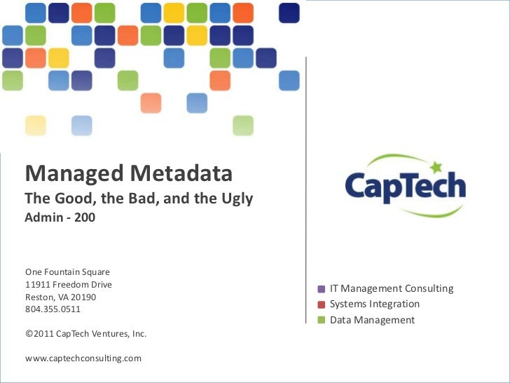 Managed Metadata - The Good, the Bad, and the Ugly