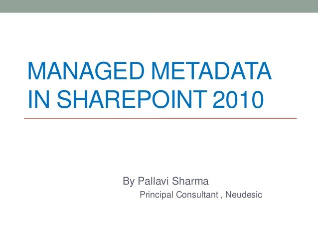 Managed metadata in SharePoint 2010