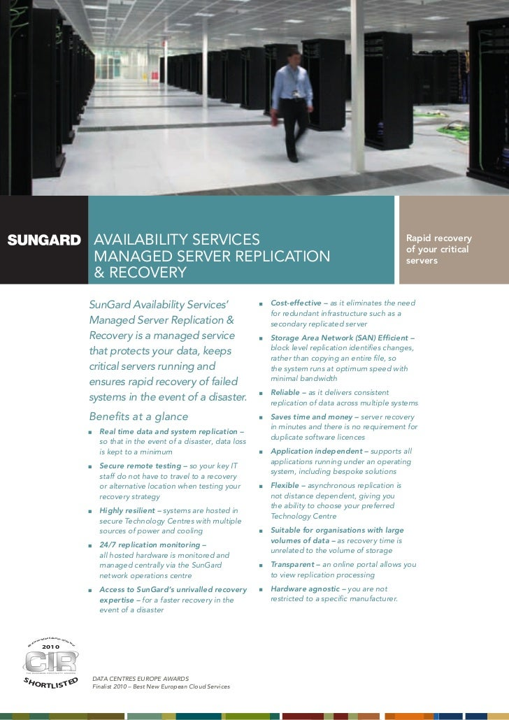 AVAILABILITY SERVICES                                                                      Rapid recovery                 ...