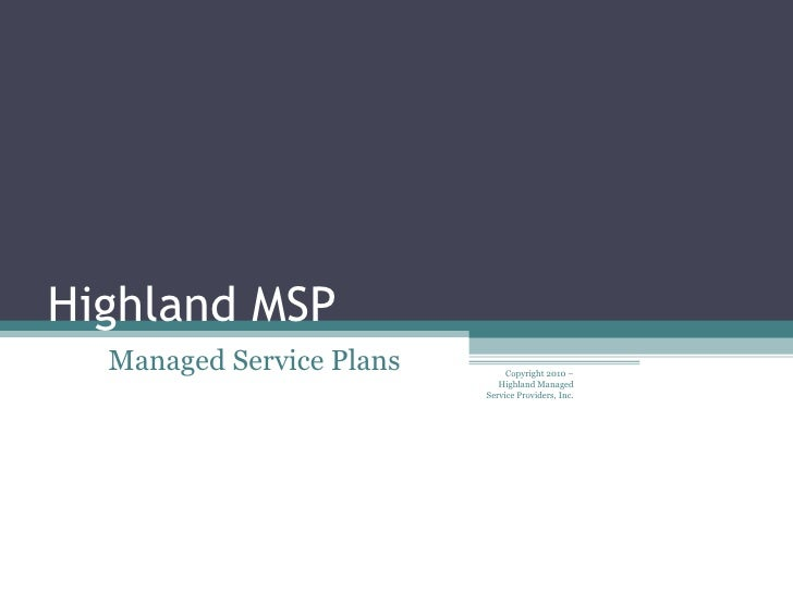 Managed Services Presentation