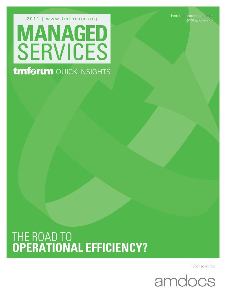 Managed services the road to operational efficiency