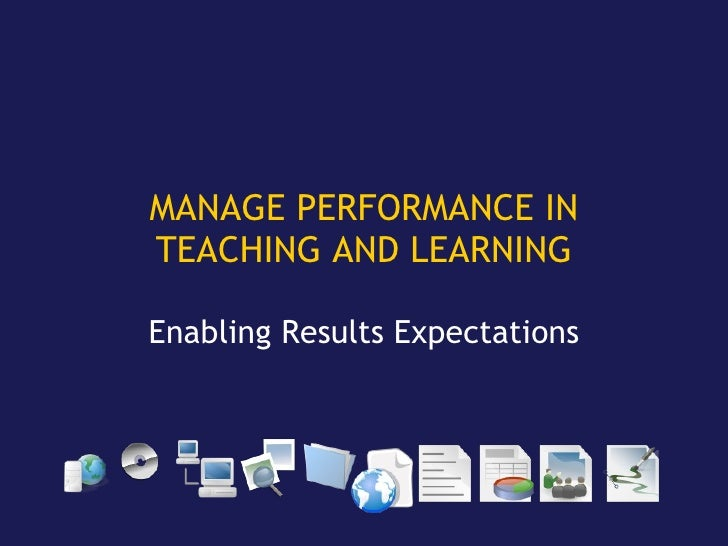 Manage Learning Performance With Ict