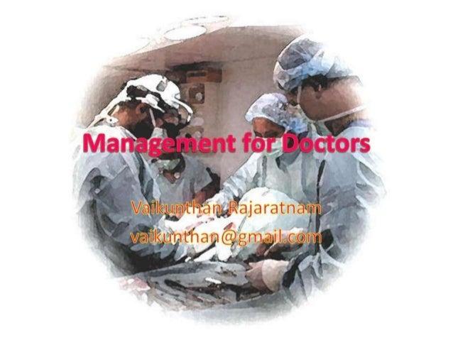 Management for doctors1