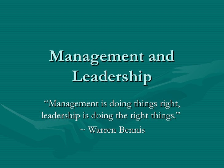 leader o r manager When asked to define the ideal leader by contrast, the second manager continued to be a strong leader, his best people stayed.
