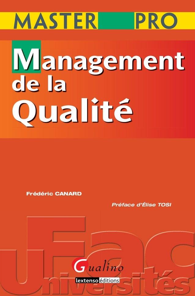 Management de la- ualite