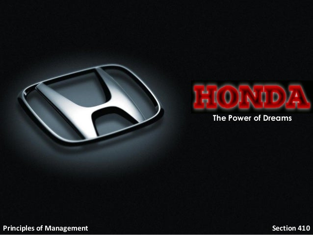 honda management The renowned account of the honda management system was first published in japan in 1980 for this english translation, the book has been thoroughly revised and up-dated.
