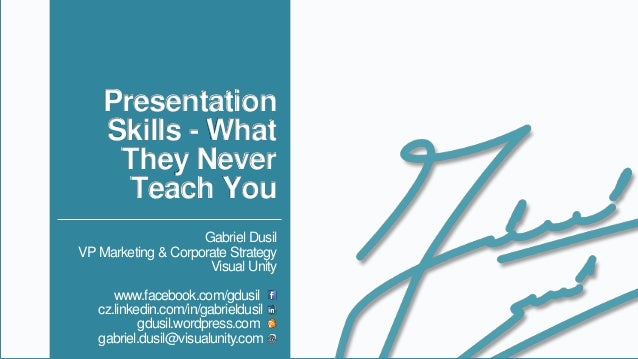 Management - Presentation Skills, What They Never Teach You (v1.9)