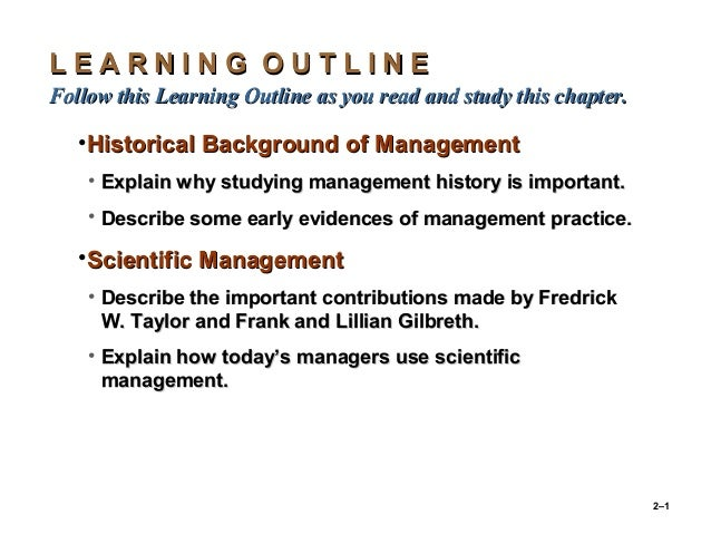 2–1 L E A R N I N G O U T L I N EL E A R N I N G O U T L I N E Follow this Learning Outline as you read and study this cha...