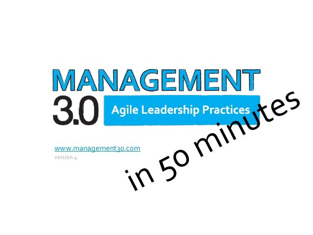 Management 3.0 in 50 minutes