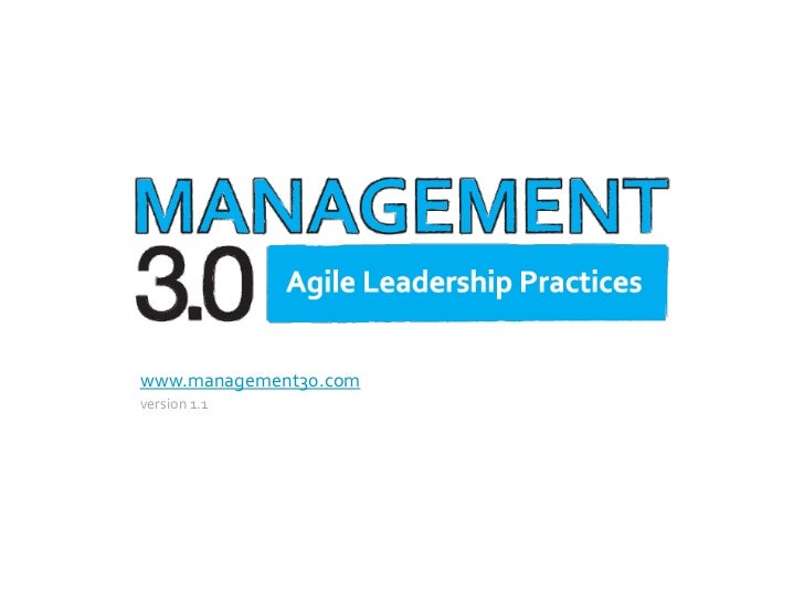 Management 3.0 overview