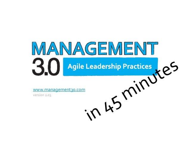 Management 3.0 Primer in 45 Minutes