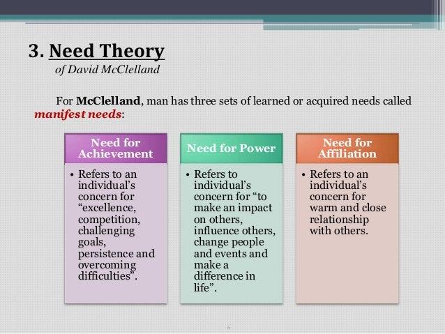 david mcclelland s achievement motivation manifest need theory