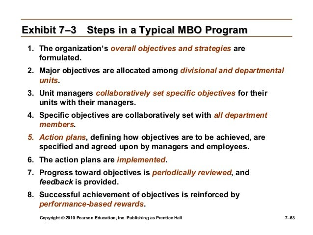 9 steps of mbo Planning and goal setting for small business management by objectives 1 preparing for the mbo program the first step in developing an effective mbo program is to define your business ask yourself the following questions:.