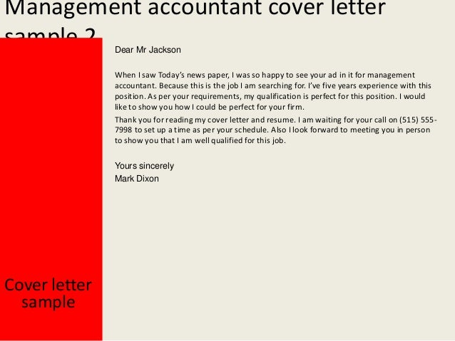 Application letter for management accountant - Junior Accountant ...