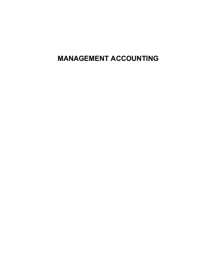 Management accounting notes @ mba bk