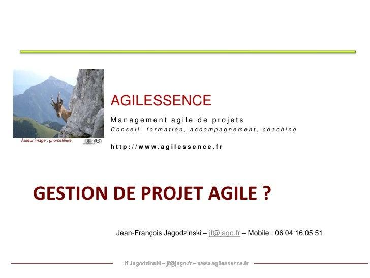 Management agile des projets