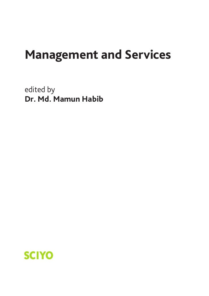 Management and Servicesedited byDr. Md. Mamun HabibSCIYO