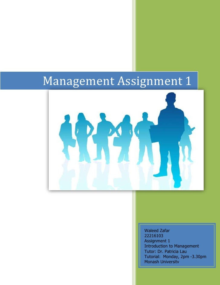 Management Assignment 1Waleed Zafar[Type the company name]2009 -Sem 28121651935480Waleed Zafar22216103Assignment 1 Introdu...